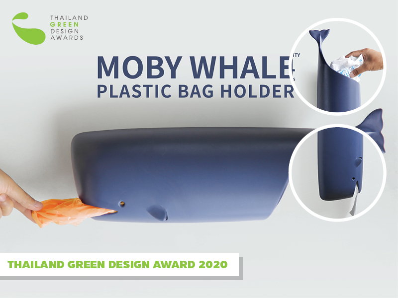 Moby Whale Plastic Bag Holder